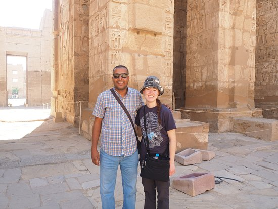 Luxorview: Myself with Mohamed at the Temple of Habu