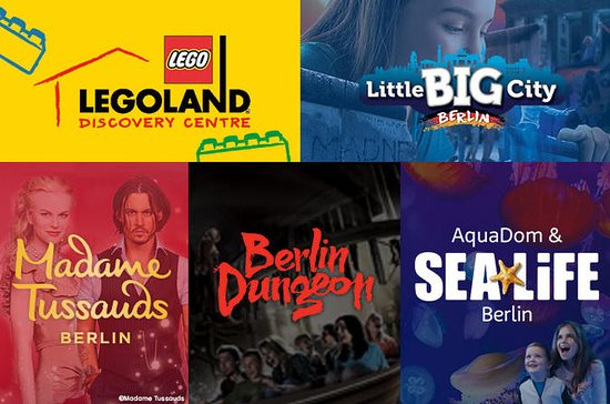 Berlin Attraction Ticket: Madame Tussauds, Dungeon, AquaDom & SEA...