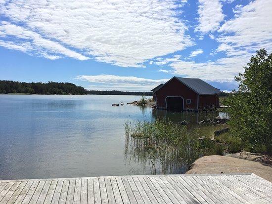 Houtskar Island, Finland: View from hotel - merinäkymä laiturilta