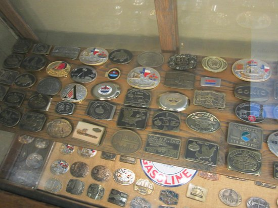 Kilgore, TX: Belt buckles from oil companys