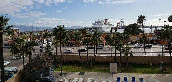 Villa Marina: View from the balcony of a 2nd floor room