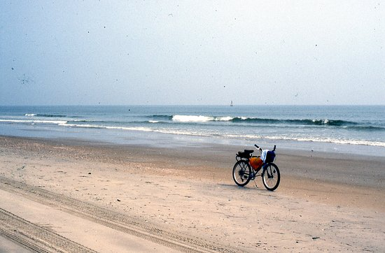 False Cape State Park: Riding on the beach at low tide.