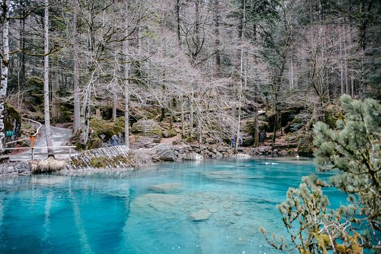 Blausee-Mitholz, Switzerland: Beautiful, clear, super blue water