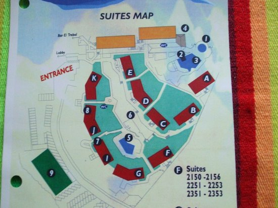 map of the suites buildings at the Beach Club - Picture of ...