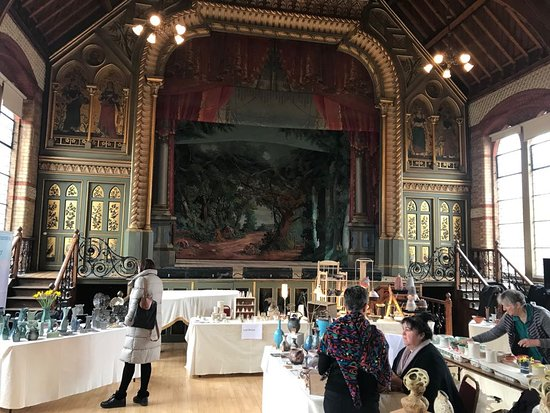 Teddington, UK: Pottery fair in theatre