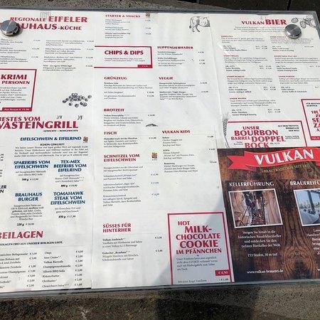 Mendig, Alemania: Speisenkarte