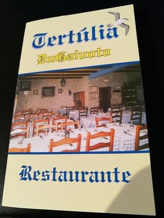 Alcanena, Portugal: Cartão do restaurante