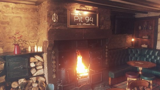 Allendale, UK: Food by the fire