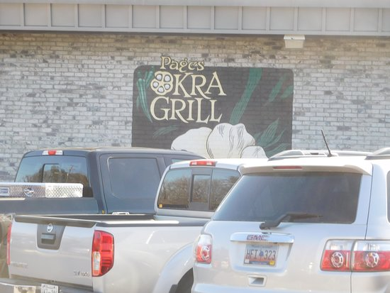 Pages Okra Grill : Signage