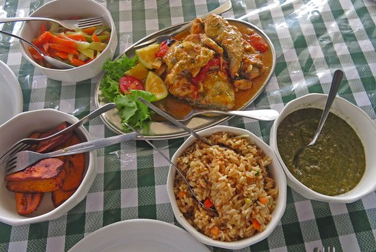 Speyside, Tobago: lunch at Jemma's