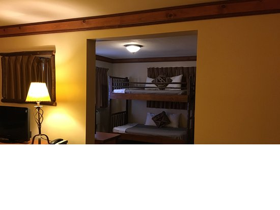 Oklahoma Suite View Of Bunk Bed Area From The Queen Bed Room No