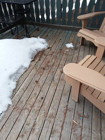 Harvie Heights, Canada : Cabin porch