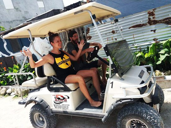 Sam's Golf Cart Rental : Excited and ready to go! We hope you had an amazing time exploring the island!