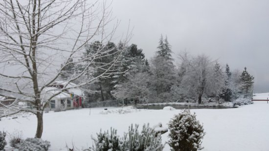 Crofton, Canadá: Winter at the Inn, Hot Choc in Hand and the Fire's on