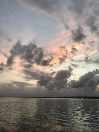 Al Natural Resort: beautiful sunset from the dock