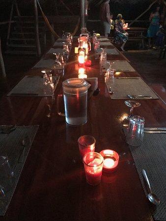 Al Natural Resort: candelight dinner every night