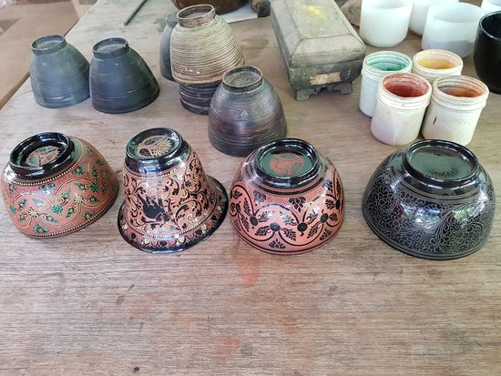 Jasmine Family Lacquerware Workshop: Natural color layers of Lacquerware
