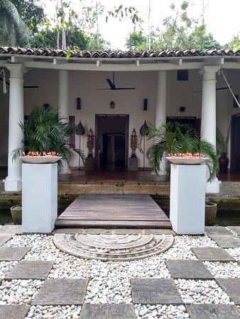 Entrance to main villa