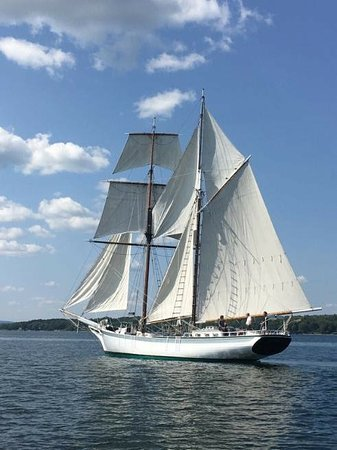 Actress sailing out if Belfast Maine.