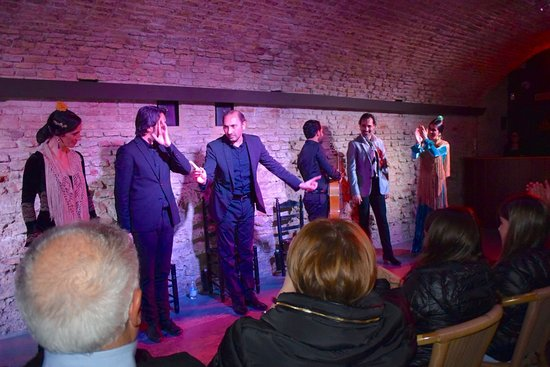 Museo del Baile Flamenco: Photo's were not permitted, but i managed to take this one at the end.