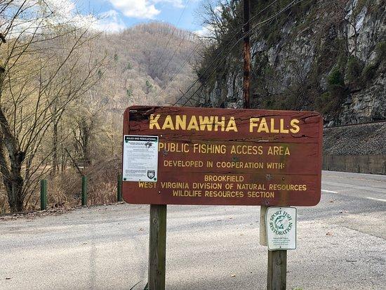 Glen Ferris, Virginia Barat: Kanawha Falls Sign