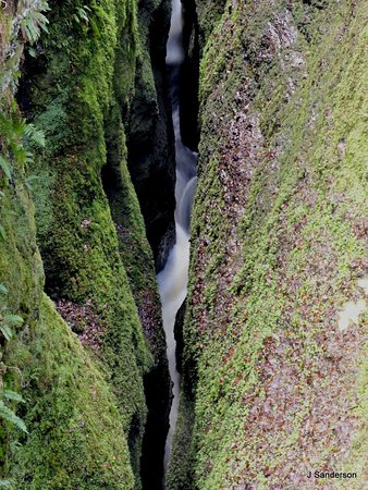 Black Rock Gorge: taken from one of the bridges, not a lot of light reaches the bottom