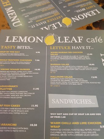 Lemon Leaf Cafe Kinsale Menu