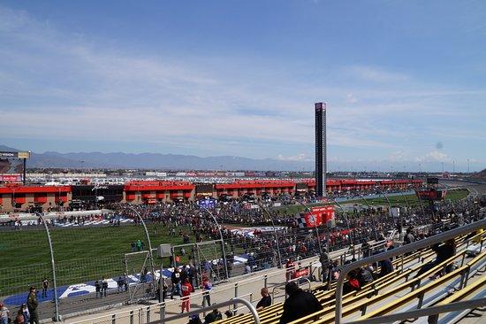 Fontana, CA: Looking towards the start/finish before the race.