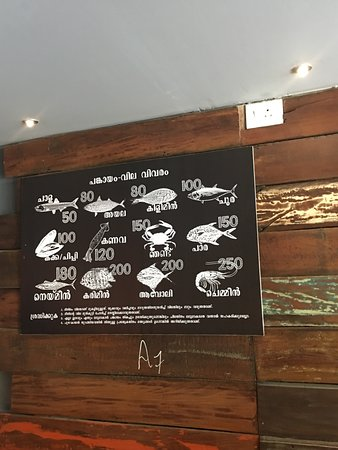 Delicious variety of fish foods