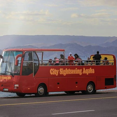 Aqaba, Jordan: Open bus