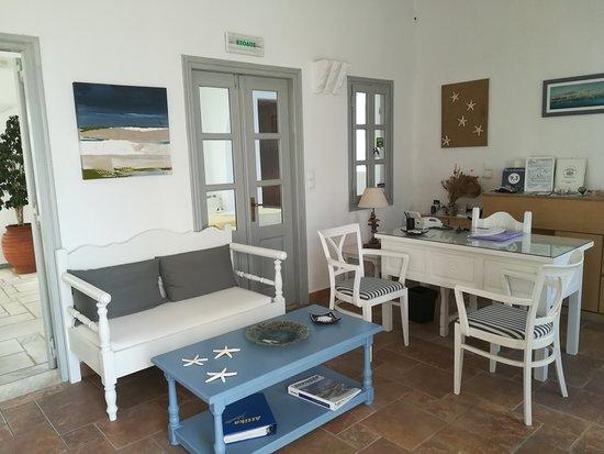 Roussos Beach Hotel: reception