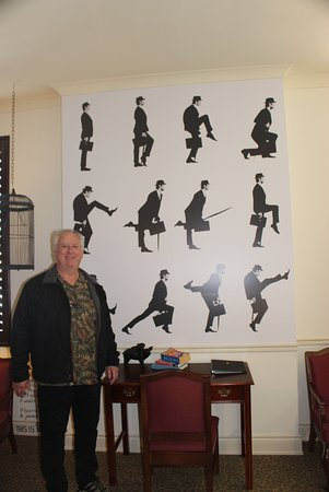 Arlington Hotel: Monty Python room - lots of python graffiti and pics