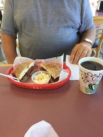 Pastrami and Swiss on sesame bagel - Picture of Lox n Egg, Sarasota