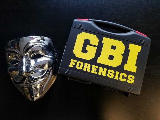 Carrollton, Geórgia: The G.B.I forensics kit your team will use to stop the Hacker.