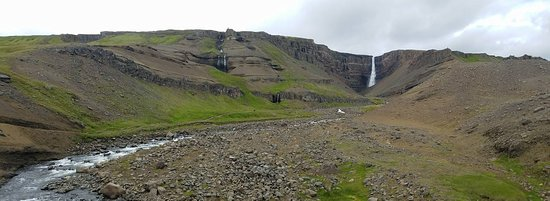 Hallormsstadur, ไอซ์แลนด์: Hengifoss from a Distance
