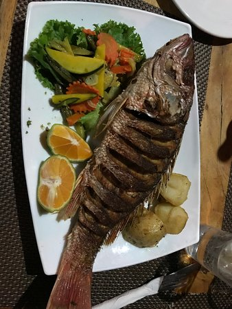La Casita del Marisco: Red snapper dinner (don't forget the other side!)