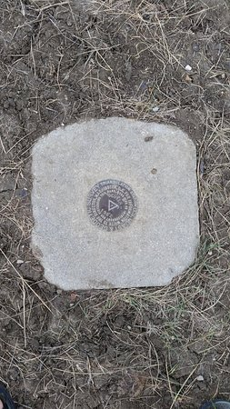 Rugby, ND: Official Marker.  Picture taken from location North of Belle Fouche monument.