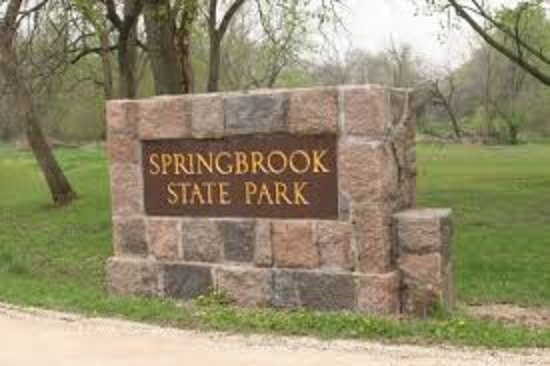 Guthrie Center, ไอโอวา: Springbrook State Park - entrance sign