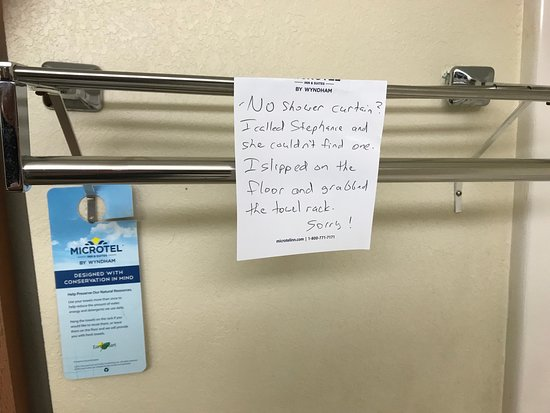 Microtel Inn Suites By Wyndham Ocala Damage To Towel Bar No Shower Curtain