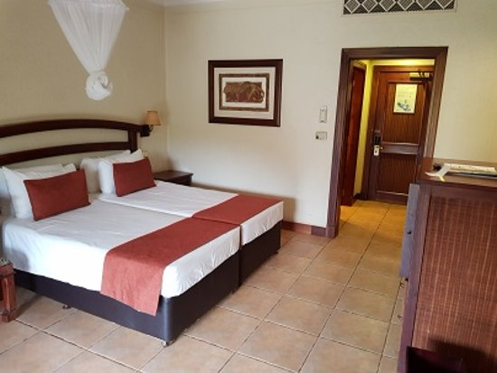 The Kingdom at Victoria Falls: room was large enough for me to push these beds apart on separate sides of the room
