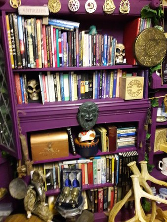 The Raven & Broomstick: The crooked bookshelf