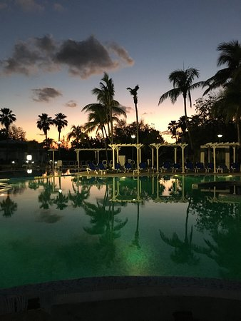 Typical sunset by the pool