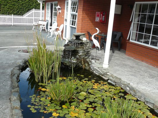 Admirals Motor Lodge: Goldfish pond in grounds