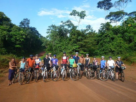 Paramaribo, Suriname: Exciting mountainbike trip trough the rainforest.