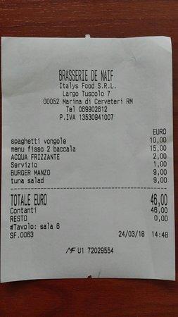 Brasserie de Naif: Conto della non piacevole esperienza