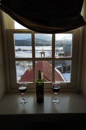 St. Eugene Golf Resort & Casino: My favourite thing to do is sip a glass of wine in the luxurious room before going out.