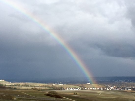 Benedictine Abbey of St. Hildegard: Stunning rainbow over the vineyards of the Abbey of St. Hildegard