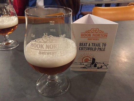 Hook Norton, UK: Tasting session.