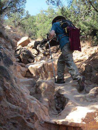 Lighthouse Trail: Once we turned left past the end of the trail signs, the trail became steep so wear hiking boots