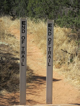 Lighthouse Trail: Assume they placed the signs here to keep people off of the steep trail that follows!